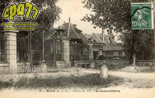 Gretz Armainvilliers - Entrée du Parc d'Armainvilliers