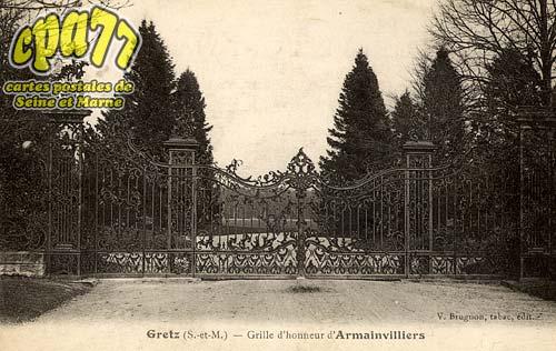 Gretz Armainvilliers - Grille d'honneur d'Armainvilliers