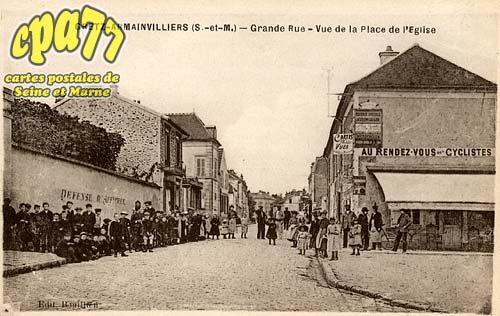 Gretz Armainvilliers - Grande Rue - Vue de la Place de l'Eglise