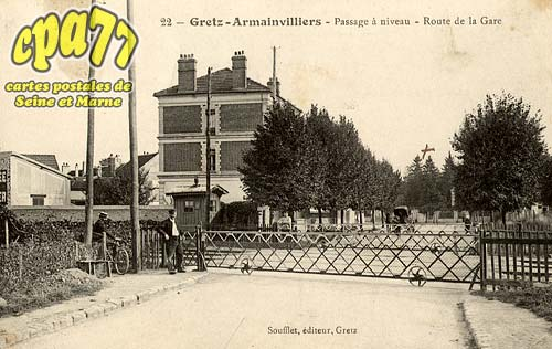 Gretz Armainvilliers - Passage à niveau - Route de la Gare
