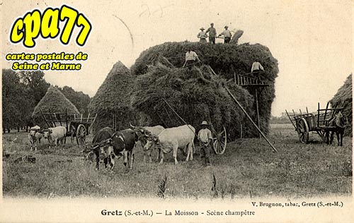 Gretz Armainvilliers - La Moisson - Scène Champêtre