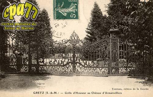 Gretz Armainvilliers - Grille d'honneur au Château d'Armainvilliers