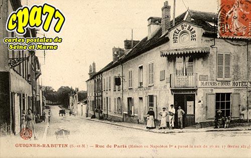 Guignes Rabutin - Rue de Paris