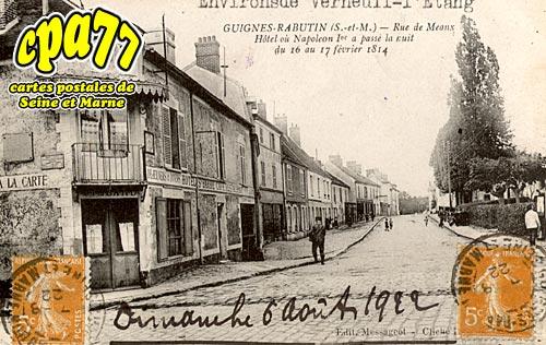 Guignes Rabutin - Rue de Meaux - Hôtel où Napoléon Ier a passé la nuit du 16 au 17 février 1814