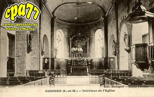 Guignes Rabutin - Intérieur de l'Eglise