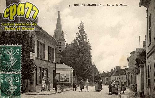 Guignes Rabutin - La Rue de Meaux