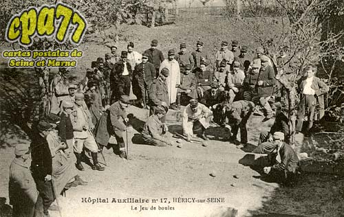 Héricy - Hôpital Auxiliaire n°17, Héricy-sur-Seine -Le jeu de boules