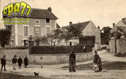 Héricy - Rues de la Gaudine et de l'Abreuvoir