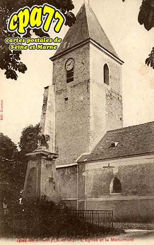 Isles Lès Villenoy - L'Eglise et le Monument