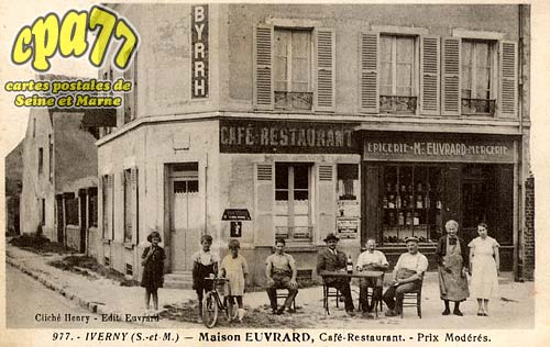 Iverny - Maison Euvrard, Café-Restaurant - Prix Modérés.