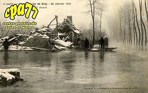 Jaulnes - Neuvry - L'inondation de la Vallée de Bray - 24 Janvier 1910