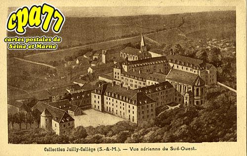 Juilly - Collège - Vue aérienne du Sud-Ouest
