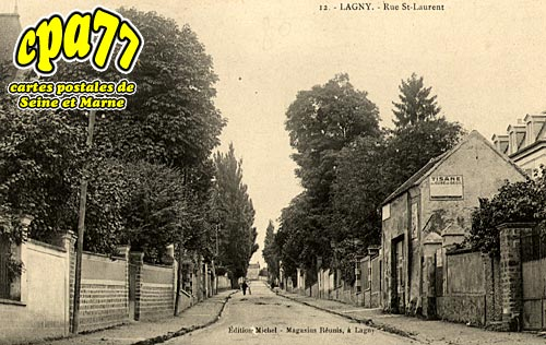 carte postale ancienne de lagny sur marne 77 rue st laurent. Black Bedroom Furniture Sets. Home Design Ideas