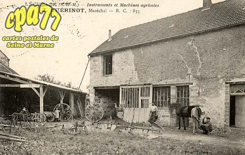Lechelle - Instruments et Machines agricoles - J. Guérinot, Maréchal - R.C. : 833