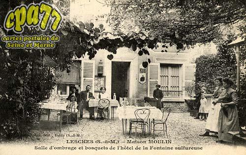 Lesches - Maison Moulin - Salle d'ombrage et bosquets de l'hôtel de la Fontaine sulfureuse