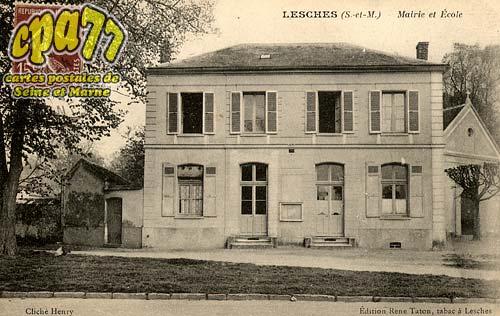 Lesches - Mairie et Ecole