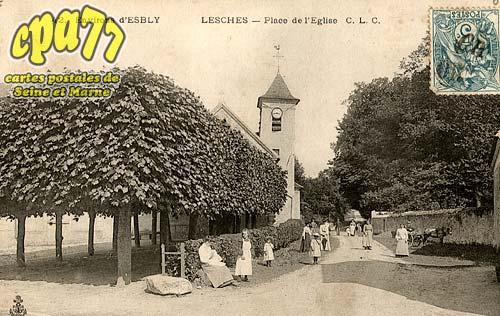 Lesches - Place de l'Eglise