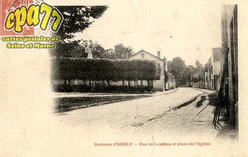 Lesches - Rue de Lesches et Place de l'Eglise