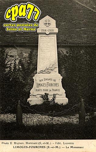 Limoges Fourches - Le Monument