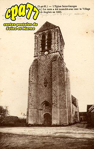 Lizines - L'Eglise Saint-Georges - Tour du XIIIe siècle