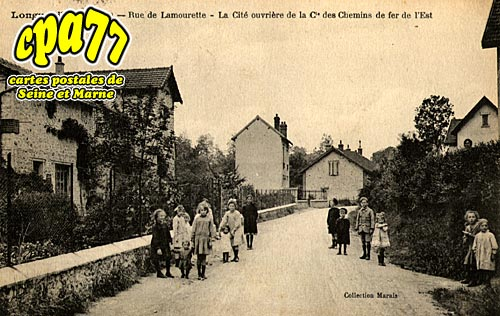 Longueville - Rue de Lamourette - La Cité ouvrière de la Cie des Chemins de Fer de l'Est