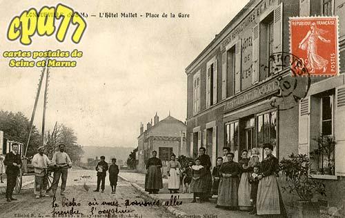 Longueville - L'Hôtel Mallet - Place de la Gare