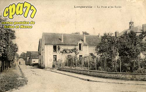 Longueville - La Poste et les Ecoles