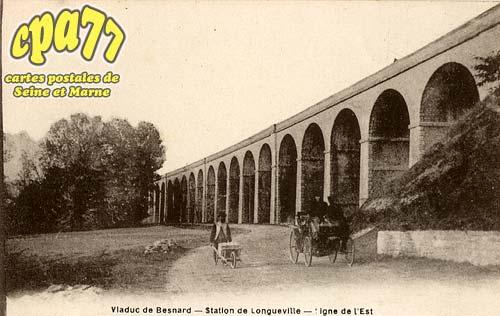 Longueville - Viaduc de Besnard - Station de Longueville - Ligne de l'Est