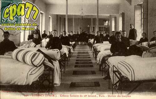 Luzancy - Colonie Scolaire du 18° Arrond., Paris - Dortoir des Garçons