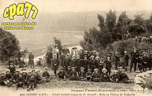 Luzancy - Colonie Scolaire Laïque du 18° Arrond. - Halte du Plateau de Vauharlin