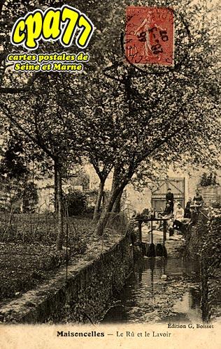 Maisoncelles En Brie - Le Rû et le Lavoir
