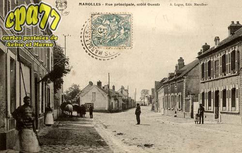 Marolles Sur Seine - Rue Principale, côté Ouest