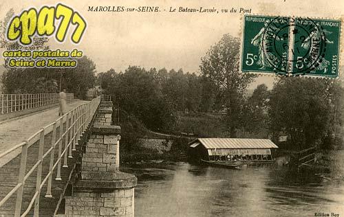 Marolles Sur Seine - Le Bateau-Lavoir, vu du Pont