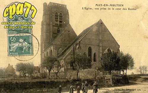 May En Multien - L'Eglise, vue prise de la cour des Ecoles