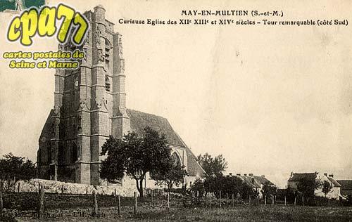 May En Multien - Curieuse Eglise des XIIe XIIe et XIVe siècles - Tour remarquable (côté Sud)