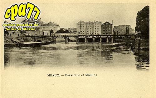Meaux - Passerelle et Moulins