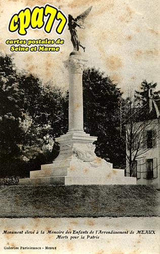 Meaux - Monument élevé à la mémoire des Enfants de l'Arrondissement de Meaux morts pour la Patrie