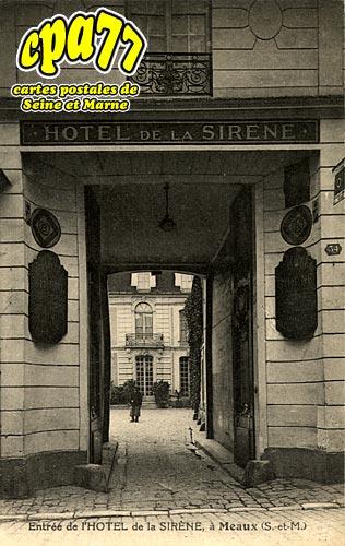 Meaux - Entrée de l'Hôtel de la Sirène