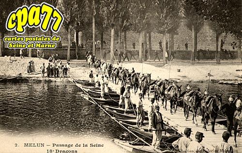 Melun - Passage de la Seine - 18e Dragons