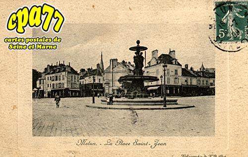 Melun - La Place Saint-Jean