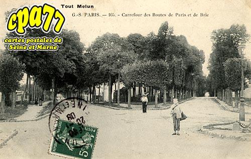 Melun - Carrefour des Routes de Paris et de Brie