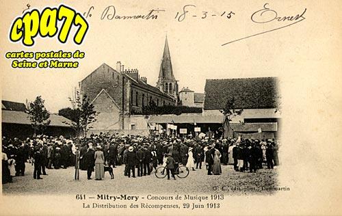 Mitry Mory - Concours de Musique 1913 - La Distribution des Récompenses, 29 Juin 1913