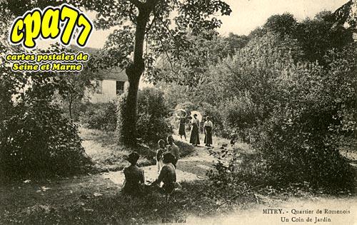 Mitry Mory - Quartier de Romenois - Un Coin de jardin
