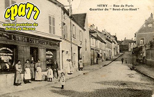 Mitry Mory - Rue de Paris - Quartier du