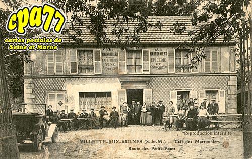 Mitry Mory - Villette-aux-Aulnes - Café des Marronniers - Route des Petits-Ponts (en l'état)