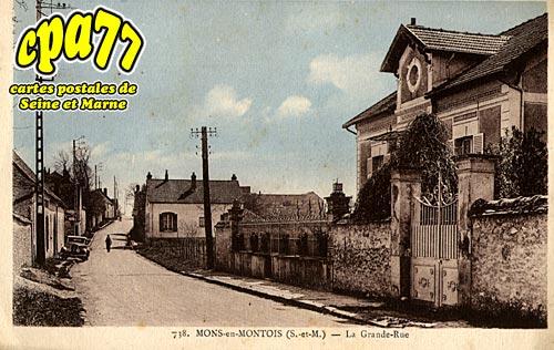 Mons En Montois - La Grande-Rue