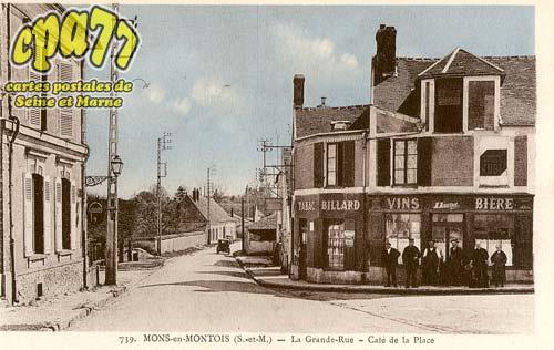 Mons En Montois - La Grande-Rue - Café de la Place