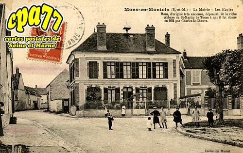 Mons En Montois - La Mairie - Les Ecoles