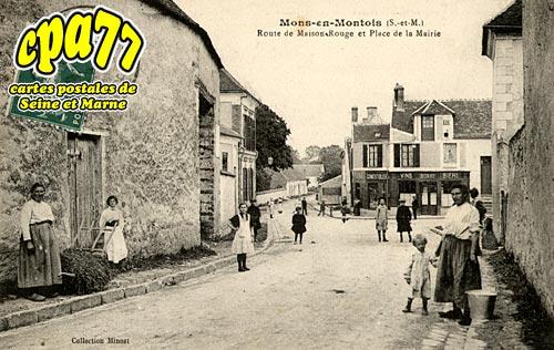 Mons En Montois - Route de Maison-Rouge et Place de la Mairie