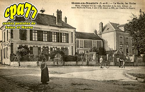 Mons En Montois - La Mairie, les Ecoles